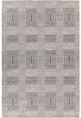 """Bungalow Rose Gragg Patterned Contemporary Flatweave Wool Black: Cream Area Rug Rug Size: Rectangle 5' x 7'6"""""""
