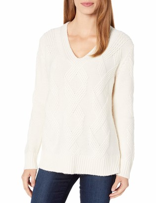Pendleton Women's Luxe Cable V-Neck Sweater