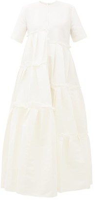 Maison Rabih Kayrouz Asymmetric-pleat Faille Gown - Ivory