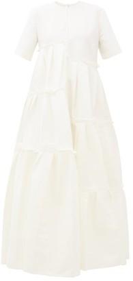 Maison Rabih Kayrouz Asymmetric-pleat Faille Gown - Womens - Ivory