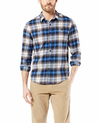 Dockers Long Sleeve Smart Temp Flannel Shirt