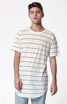 PacSun Arke Linen Striped Scallop T-Shirt