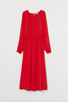 H&M Dress with Smocking - Red