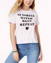 Mighty Fine Juniors' Sunshine Striped Graphic T-Shirt