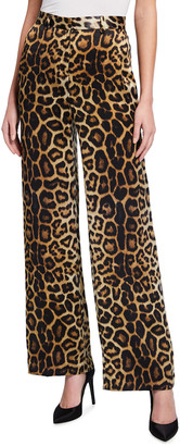 GAUGE81 Kioto Wide-Leg Leopard-Print Pants