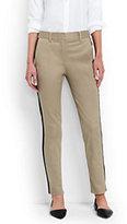 Lands' End Women's Petite Mid Rise Slim Leg Chino Pants-Warm Khaki