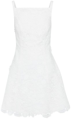 Carolina Herrera Floral lace and silk taffeta minidress