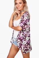 boohoo Megan Floral Print Kimono multi