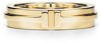 Tiffany & Co. & Co. T Two narrow ring in 18k gold - Size 9