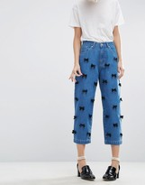 Asos WAH LONDON x Relaxed Fit Jeans With Satin Bows