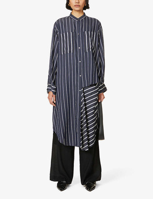 Rito Striped cotton-twill shirt dress