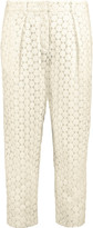 Joseph Embroidered cotton tapered pants