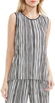 Vince Camuto Stripe Pleat Knit Top (Regular & Petite)