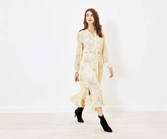 Oasis Spot Dip Hem Shirt Dress