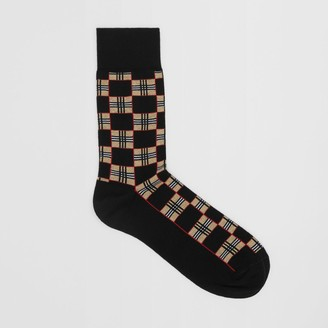 Burberry Chequer Cotton Bend Socks