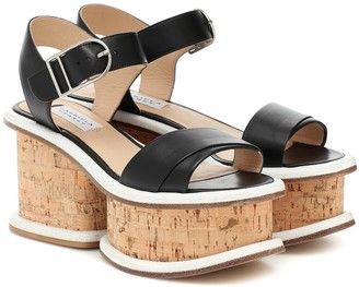 Gabriela Hearst Harrigan leather and cork sandals