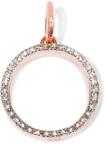 Monica Vinader Naida Circle Rose Gold Vermeil Diamond Pendant - one size