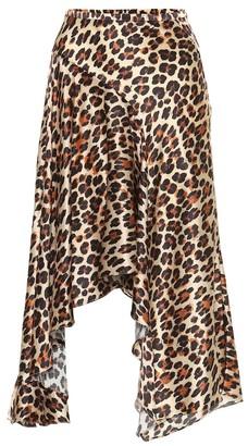 Caroline Constas Exclusive to Mytheresa Leopard-print silk-satin midi skirt