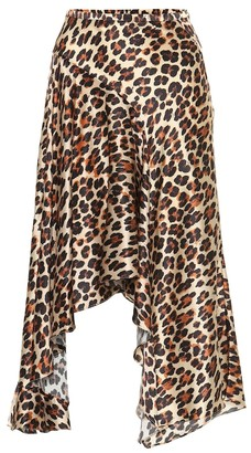 Caroline Constas Exclusive to Mytheresa Leopard-print silk-satin midi skirt