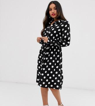 Y.A.S polka dot shirt dress