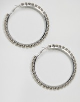 New Look Oversized Hoops With Stones