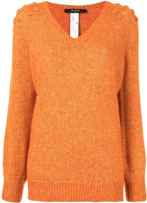 Twin-Set chunky knit V-neck jumper