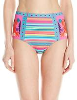 Nanette Lepore Women's Flora Fiesta Pin-Up High-Waist Bikini Bottom