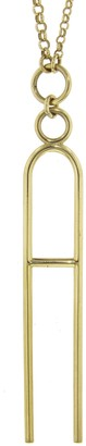 Foundrae Initial Letter Clip On Mixed Belcher Necklace - Yellow Gold