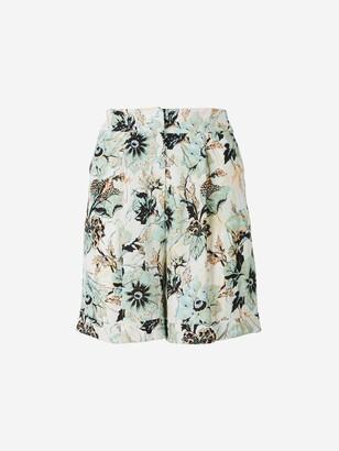Diane von Furstenberg Floral Print Shorts