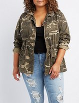 Charlotte Russe Plus Size Palm Springs Camo Anorak Jacket