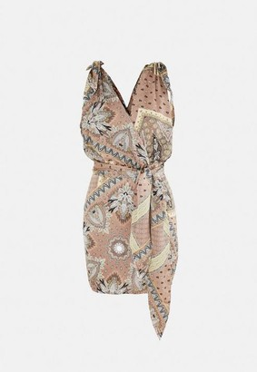 Missguided Paisley Print Wrap Dress
