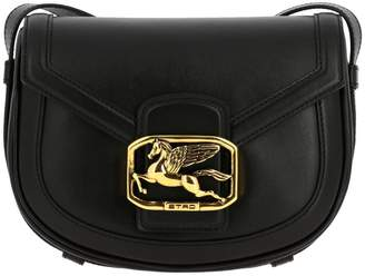 Etro Crossbody Bags Pegaso Leather Bag With Maxi Metal Plate