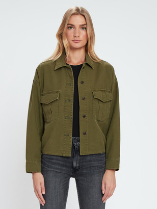Moussy Satin Back Military Shirt