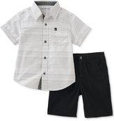 Calvin Klein 2-Pc. Woven Cotton Shirt & Shorts Set, Toddler & Little Boys (2T-7)