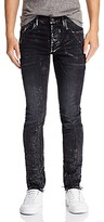 Purple Brand Metallic Detail Skinny Fit Jeans in Black Wash Multi