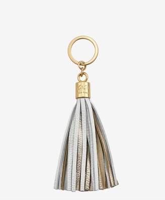 GiGi New York Tassel Key Chain In White And Gold