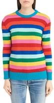 Saint Laurent Women's Rainbow Stripe Wool Sweater