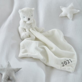 The White Company 2021 Dated Bear Comforter, White, One Size