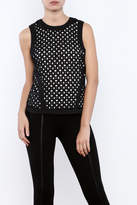 Bishop + Young Eyelet Contrast Top
