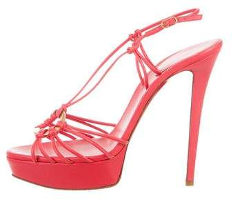 Christian Louboutin Leather Multistrap Sandals