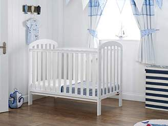 O Baby Obaby Lily Cot and Fibre Mattress - White