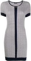 Chanel Pre Owned ribbed fitted mini dress