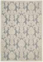 Nourison Graphic Illusions GIL03 Nickel Rectangle Rug, 5.3'x7.5'