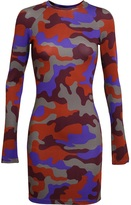 Christopher Kane Camouflage Printed Jersey Dress