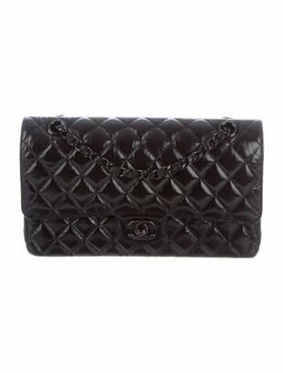 Chanel 2019 Medium Tonal Classic Double Flap Bag Black