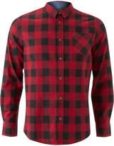 Brave Soul Men's Jack Long Sleeve Check Shirt - Red