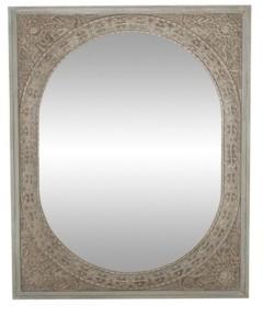 Rosemary Lane Rustic Rectangular Framed Wall Mirror