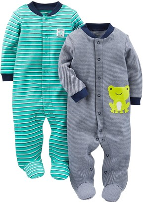 Carter's Simple Joys by Baby Boys' 2-Pack Cotton Footed Sleep and Play