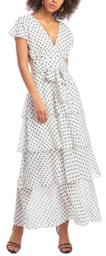 Christian Siriano New York Dot-Print Maxi Dress
