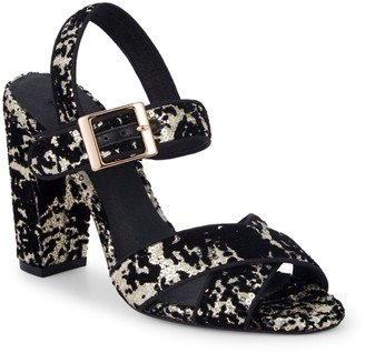 Ava & Aiden Giselle Sequined Velvet Sandals